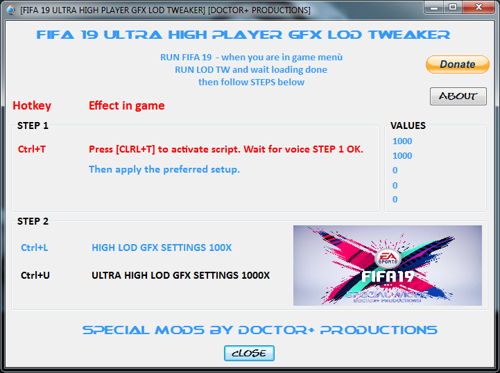 Ultra High Player GFX LOD Tweaker 1.2